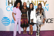 "MoAna Luu, Susan L. Taylor ,  Michelle Ebanks and Mikki Taylor attend ESSENCE & AT&T ""Humanity Of Connection"" event at New York Historical Society on June 10, 2019 in New York City."