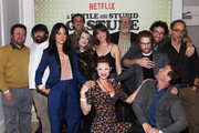 "Actors Neil Casey, John Gemberling, Camille Guaty, Lonny Ross, Annette O'Toole, Jackie Thon, Elvy Yost, Rick Glassman, Rick Overtone, Joe Lo Truglio, Seth Green and director David Wain attend the cast and crew screening of ""A Futile And Stupid Gesture"" hosted by EW and Netflix at The London West Hollywood Hotel on January 26, 2018 to celebrate the launch in West Hollywood, California."