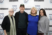 Gina McCarthy, Ron Howard, Michelle John and Courteney Monroe attend EW x NRDC Sundance Film Festival Panel Series: Rebuilding Paradise Panel and Reception at Main Street Gallery on January 25, 2020 in Park City, Utah.