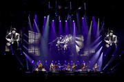 (L-R) Vince Gill, Timothy B. Schmit, Don Henley, Deacon Frey, Joe Walsh and Steuart Smith of the Eagles perform at MGM Grand Garden Arena on September 27, 2019 in Las Vegas, Nevada.