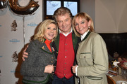 (L-R) Marianne Hartl, Michael Hartl and Christa Kinshofer during the Eagles New Year's Reception on February 4, 2018 in Rottach-Egern, Germany.