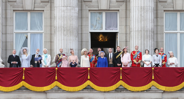 Queen Elizabeth II's Birthday Parade: Trooping The Colour [elizabeth ii,michael of kent,gabriella windsor,duke,helen windsor,princess,andrew,pope,event,trooping the colour,birthday parade,cambridge]