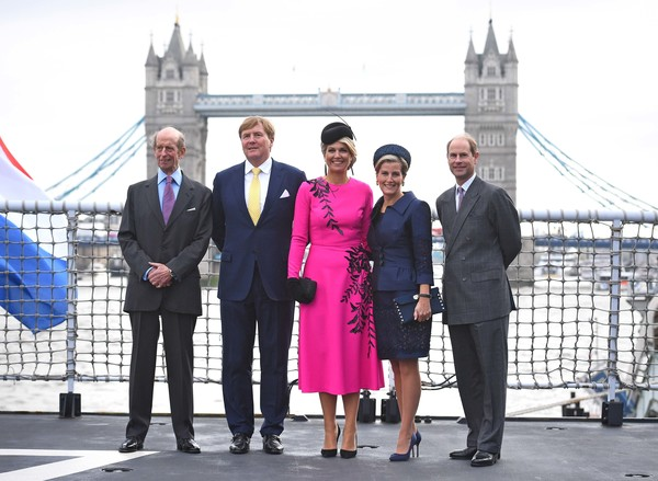 State Visit Of The King And Queen Of The Netherlands - Day Two [event,tourism,white-collar worker,team,businessperson,vacation,magenta,suit,travel,ceremony,maxima,willem-alexander,queen,prince edward,beatrix,claus,l-r,netherlands,the king and queen of the netherlands,state visit]