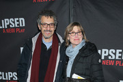 "Actor John Turturro (L) and Katherine Borowitz attend the ""Eclipsed"" broadway opening night at The Golden Theatre on March 6, 2016 in New York City."