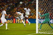 Paul Pogba of France heads the ball wide of the goal past Alexander Dominguez of Ecuador during the 2014 FIFA World Cup Brazil Group E match between Ecuador and France at Maracana on June 25, 2014 in Rio de Janeiro, Brazil.