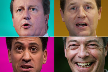 Ed Miliband Nick Clegg In Focus: Political Faces
