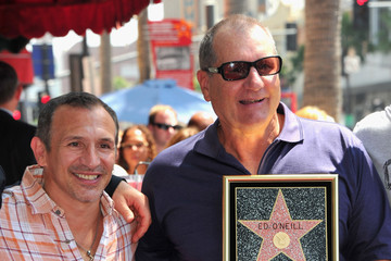 "Ray ""Boom Boom"" Mancini Ed O'Neil Honored On The Hollywood Walk Of Fame"
