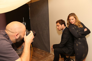 Ed Westwick Behind The Scenes Of The Getty Images Portrait Studio Powered By Samsung Galaxy At 2015 Summer TCA's