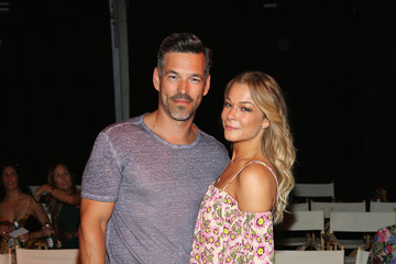 Eddie Cibrian Tori Praver At FUNKSHION Swim Week Miami Beach - Front Row