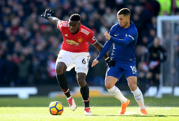 Image result for Paul Pogba with Eden Hazard