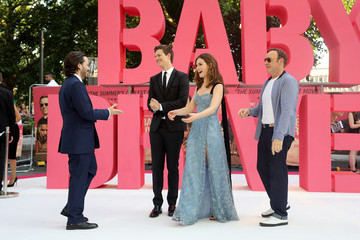 Edgar Wright Ansel Elgort European Premiere of Sony Pictures 'Baby Driver'