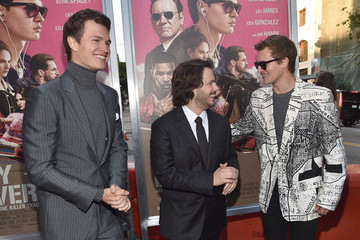 Edgar Wright Ansel Elgort Premiere of Sony Pictures' 'Baby Driver' - Red Carpet