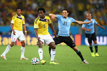 Edinson Cavani Colombia v Uruguay: Round of 16 - 2014 FIFA World Cup Brazil