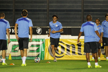 Edinson Cavani Uruguay Training & Press Conference - 2014 FIFA World Cup