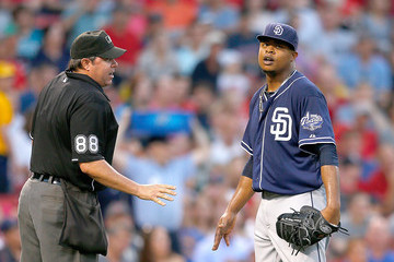 Edinson Volquez San Diego Padres v Boston Red Sox