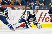 Sergei Bobrovsky #72 of the Columbus Blue Jackets makes a save during the game against the Edmonton Oilers on January 3, 2017 at Nationwide Arena in Columbus, Ohio.