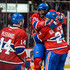 Tomas Plekanec P.K. Subban Photos - P.K. Subban #76 of the Montreal Canadiens celebrates his goal with teammates Tomas Plekanec #14 and Alex Galchenyuk #27 during the NHL game against the Edmonton Oilers at the Bell Centre on February 6, 2016 in Montreal, Quebec, Canada. - Edmonton Oilers v Montreal Canadiens