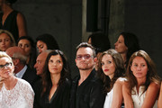 Ali Hewson, Bono, Jordan Hewson and Christy Turlington Burns are seen  at the Edun fashion show during Mercedes-Benz Fashion Week Spring 2014 at Skylight Modern on September 8, 2013 in New York City.