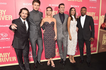 Eiza Gonzalez Ansel Elgort Premiere of Sony Pictures' 'Baby Driver' - Red Carpet