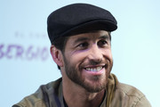 """Sergio Ramos attends """"El Corazon de Sergio Ramos"""" press conference at the Reina Sofia museum on September 10, 2019 in Madrid, Spain."""