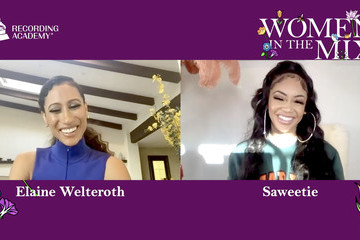 Elaine Welteroth Saweetie 63rd Annual GRAMMY Awards – Women in the Mix Live!