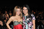 (L-R) Karen Koeningsberg and designer Anna Coroneo attend the Elene Cassis Fall 2011 fashion show during Mercedes-Benz Fashion Week at The Studio at Lincoln Center on February 17, 2011 in New York City.