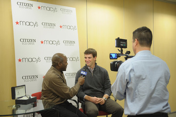 Otis Livingston Eli Manning Introduces His Limited Edition CITIZEN Eco-Drive Watch At Macy's