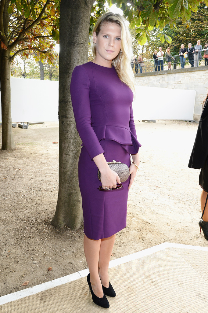 Alexandra Richards attends the Elie Saab show as part of the Paris Fashion Week Womenswear Spring/Summer 2014 at Espace Ephemere Tuileries on September 30, 2013 in Paris, France.