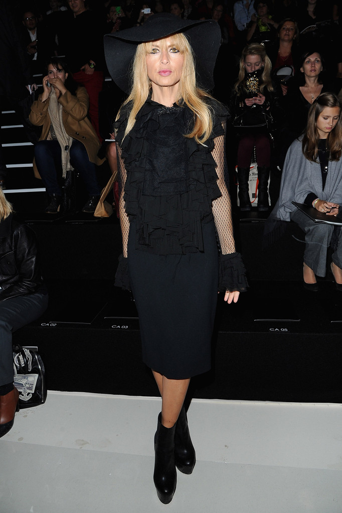 Rachel Zoe attends the Elie Saab  Spring/Summer 2013 show as part of Paris Fashion Week at Espace Ephemere Tuileries on October 3, 2012 in Paris, France.