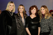 (L-R) Kristen Taekman, Heather Thomson,  Susan Sarandon and Carole Radziwill attend the Elie Tahari presentation during Mercedes-Benz Fashion Week Fall 2015 at 510 Fifth Avenue on February 17, 2015 in New York City.