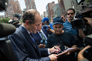Eliot Spitzer Eliot Spitzer Collects Signatures for NYC Comptroller Run