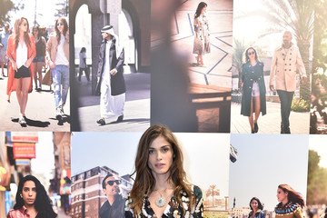 Elisa Sednaoui Burberry Celebrates Art of the Trench Middle East in Dubai