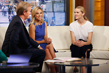 "Elisabeth Hasselbeck Brooklyn Decker Visits ""Fox And Friends"""