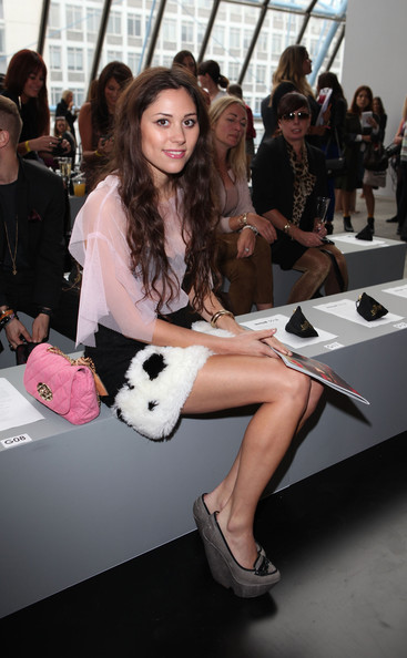 3c7c464f3925 Celebrities On The Front Row at London Fashion Week Spring Summer 2012