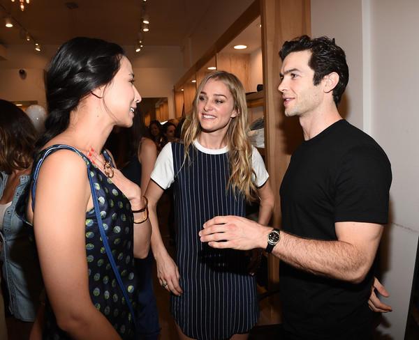 Amour Vert x Switch Boutique [event,fashion,fun,fashion design,party,little black dress,switch boutique,lily kwong,ethan peck,elizabeth gilpin,l-r,swith boutique,california,beverly hills,amour vert,celebration]