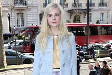 Elle Fanning Arrivals at the Miu Miu Show