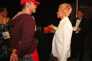 Ellen DeGeneres Backstage at the 86th Annual Academy Awards