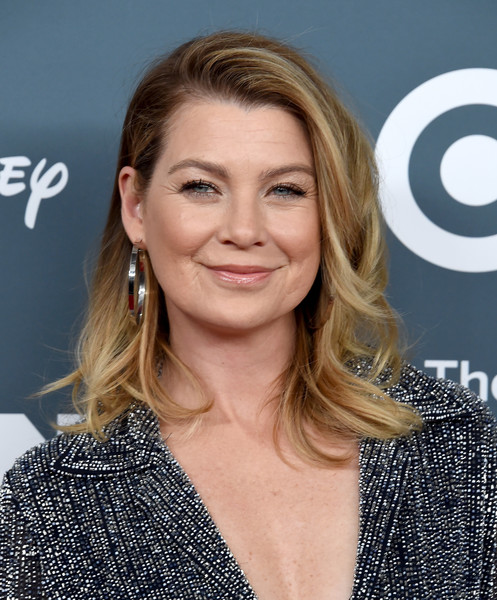 GLSEN Respect Awards - Arrivals [hair,blond,beauty,human hair color,hairstyle,eyebrow,chin,fashion model,long hair,layered hair,arrivals,ellen pompeo,glsen respect awards,beverly wilshire four seasons hotel,beverly hills,california]