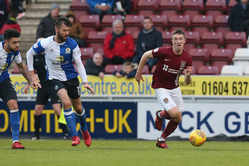 Elliott Ward Northampton Town v Blackburn Rovers - Sky Bet League One