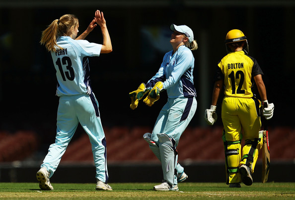 Nicole Bolton and Ellyse Perry - Breakers v Fury - WNCL