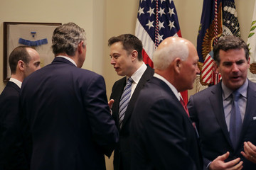 Elon Musk President Trump Holds Listening Session With Business Leaders