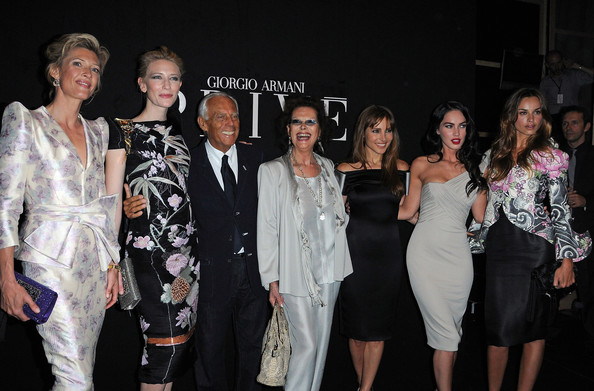 Megan Fox and Elsa Pataky - Giorgio Armani Prive - Paris Fashion Week Haute