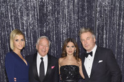 (L-R) Dana Blumberg, Robert Kraft, Hilaria Baldwin, and Alec Baldwin attend the Elton John AIDS Foundation 25th Year And Honors Founder Sir Elton John During New York Fall Gala at Cathedral of St. John the Divine on November 7, 2017 in New York City.