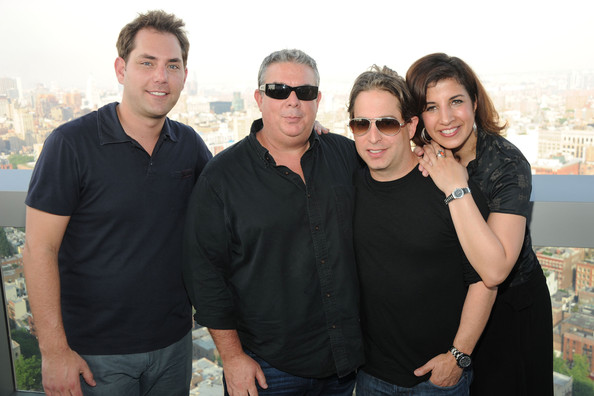 Z100 Hosts a Cocktail Party in NYC [elvis duran and z100 presents: cocktails in the afternoon summer celebration,people,social group,eyewear,friendship,event,glasses,fun,team,smile,family,elvis duran,sharon dastur,charlie walker,gary spangler,l-r,trump soho,new york city]