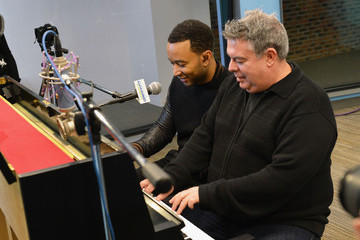 Elvis Duran John Legend Visits a Radio Morning Show