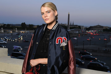 Emma Greenwell Miu Miu Cruise Collection Show : Photocall - Paris Fashion Week