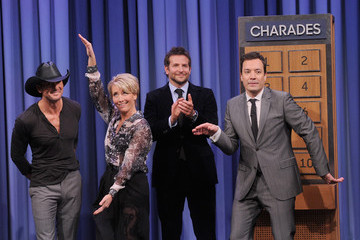 "Emma Thompson Bradley Cooper Visit ""The Tonight Show Starring Jimmy Fallon"""