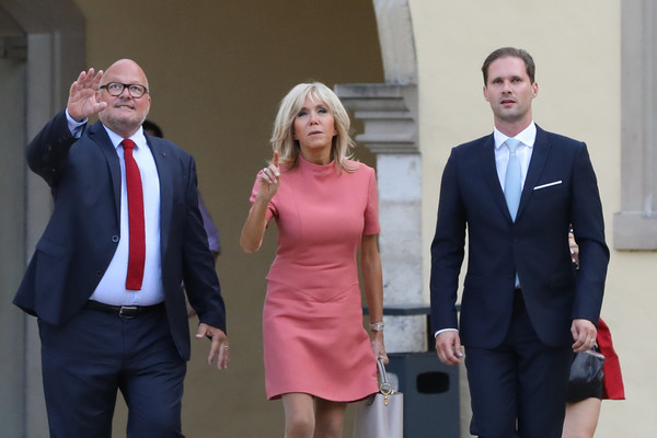 Emmanuel Macron Brigitte Macron Emmanuel Macron And Brigitte Macron Photos French President Emmanuel Macron And Wife Brigitte Trogneux On A One Day State Visit In Luxembourg Zimbio