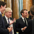 Emmanuel Macron HM The Queen Hosts NATO Leaders At Buckingham Palace Banquet