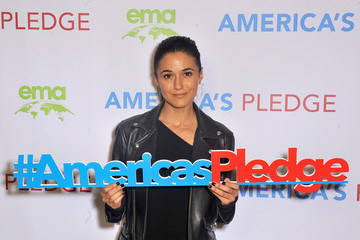 Emmanuelle Chriqui Day 1 of EMA IMPACT Summit Co-Hosted By Jaden Smith